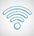 3D wifi icon vector image