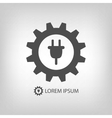 Grey energy industry logo vector image