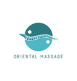 Spine logo oriental massage blue symbol diagnostic vector image