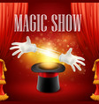 Magic trick performance circus show concept vector image vector image