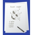 Doodle round chart vector image