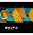 Textured paper geometric shapes on black vector image vector image