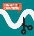 Simple Grand Opening Flat Design Card with vector image vector image