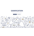 Gamification Doodle Concept vector image