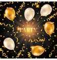 Celebration party background with golden balloons vector image