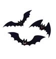Cute flying Bats in flat cartoon style vector image