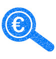 euro financial audit grunge icon vector image