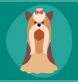 Funny cartoon dog character bread in vector image