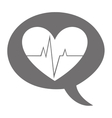 heart cardio pulse isolated icon vector image