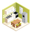miniature apartment kitchen vector image