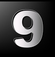 number 9 sign design template element vector image