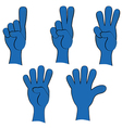 People hand collection vector image