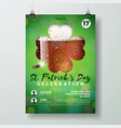 saint patricks day party flyer with vector image