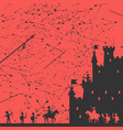 siege of the castle vector image
