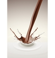 Milk Chocolate Splash Stream Flow vector image