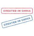 created in china textile stamps vector image