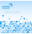 Business blue background vector image