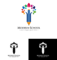 Colorfull school logo vector image