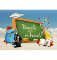 Back to school studying and teaching education and vector image vector image