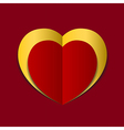 Red Heart paper background vector image vector image