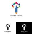 Colorfull school logo vector image