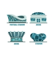 Glassware futuristic football or soccer stadium vector image