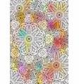 multicolored book sheet book cover mandala vector image