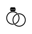 rings wedding diamond icon vector image