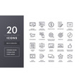 seo line icons vector image