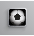 soccer and sports app icon for mobile devices vector image