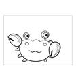 Crab cartoon vector image vector image