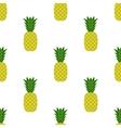 Fresh Ripe Pineapple Seamless Pattern vector image