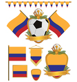 colombia flags vector image vector image