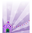 A violet circus tent vector image vector image