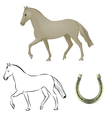 horse horseshoe vector image