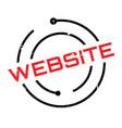 website rubber stamp vector image