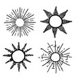 sun ray hand drawing vector image vector image