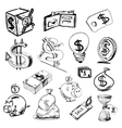 Finance and money icons collection vector image