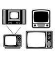 tv old retro vintage icon stock vector image