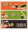 Banners with sushi vector image