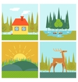 Nature Landscapes Outdoor Life Symbol Lake Forest vector image