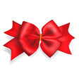 Big red bow vector image vector image