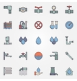 Water supply flat icons vector image