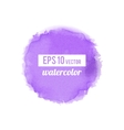 Purple watercolor stain vector image