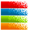 Colorful Pixel Banners vector image