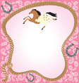 Cowgirl party invitation vector image