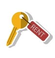 Isolated rent key design vector image