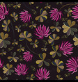 Seamless flower shamrock leaves Background vector image