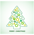 Christmas Tree Abstract Design vector image vector image