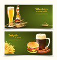 realistic beer banners vector image
